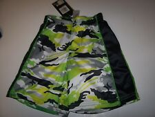 NEW Hurley green black camo camouflage board shorts boys swim trunks swimsuit 4T