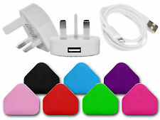 USB MAINS PLUG CHARGER DATA SYNC CABLE COMPATIBLE FOR IPOD IPHONES 3GS 4GS 5GS 6