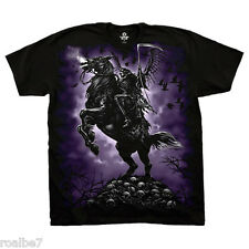 Official Liquid Blue Graphic Death Rider Dark Fantasy Black T-shirt FREE SHIP