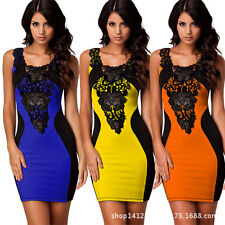 Retro Bodycon Women Bandage Evening Party Ball Cocktail Mini Short Dress C006