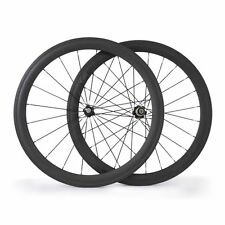 700C 23mm Width 50mm Depth Clincher Bicycle Carbon Wheels Road Bike Wheelset