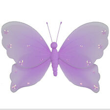 Butterfly Decor Home Purple Wedding Hanging Wall Ceiling Girls Room Baby Nursery