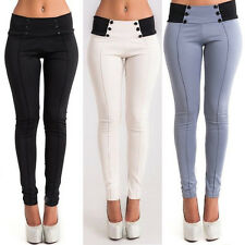 Hot Women's Casual Stretch Skinny Leggings Pencil Pants Trousers Slim Fit S-XL