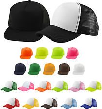 Trucker Hat Snapback Cap Solid Color & Two-Tone Mesh Summer Party Beach Trendy