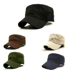 Hot Fashion Summer Adjustable Classic Army Plain Vintage Hat Cadet Military Cap