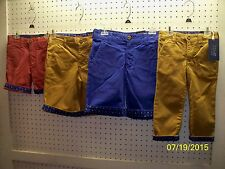 Ted Baker Boys Zabini Twill Shorts with Nautical Design Cuffs FREE Shpg NWTA