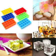 15 Cavity Ice Cube Trays Moulds Silicone IceCube Maker Molds Whiskey Party Drink