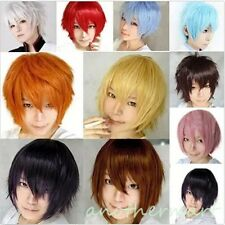 UNISEX Anime Fashion Short Wig Cosplay Party Straight Hair Cosplay Full Wigs UK