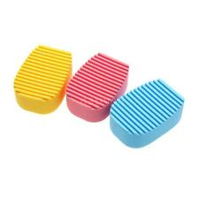 3 Colors Hand-held Silica Gel Mini Cleaning Brush Make Up Tools Washboard Style