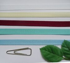 "1/4"" (7mm) Polyester Grosgrain Ribbon Tape- Color Choice-5 Yards-T384"