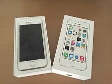 Apple iPhone 5S 32GB Silver 4G LTE GSM Factory UNLOCKED No Finger Sensor