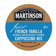 Martinson French Vanilla Cappucino Coffee Keurig Brewer K-Cups 1,12, or 24 Count