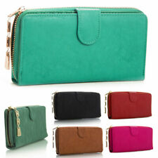 New Ladies Faux Leather Designer Zip Long Coin Purse Womens Wallet Card Holder