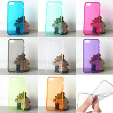 Slim Clear Crystal Soft TPU Silicone Case Cover for Apple iPhone 5 5s+Free Film
