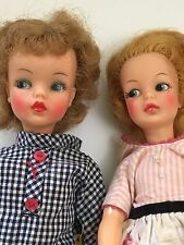 Vintage Dolls Ideal Toy Corp 1960s Tammy and Pepper