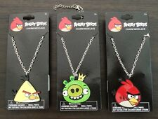 """NWT ANGRY BIRDS Chain Necklace w/Metal Charm Pendant. 16"""" w/2"""" extension."""