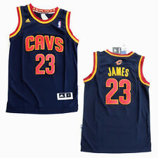 LEBRON JAMES 23 Jersey Cleveland Cavaliers Cavs NBA Addidas Blue Stitched On NEW
