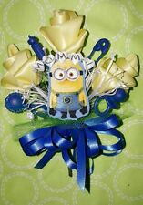 Minions MOMMY GRANDMA baby shower corsage pink blue or blue & yellow boy or girl