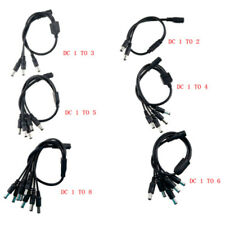 5.5x2.1mm DC Power Splitter Adaptor Cable Female to Male connect for CCTV Camera