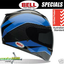BELL RS-1 Gage M.Black Blue Motorcycle Race Helmet Road Bike Ride Track