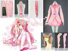 Vocaloid Family Hatsune Miku Senbon Sakura Pink Miku Cosplay Costume Fancy Dress