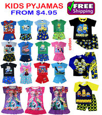 NEW Sz 1~12 KIDS BOYS PYJAMAS OCTONAUTS TURTLE MINION PJ PJS SUMMER SLEEPWEAR