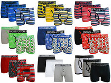 New Mens Crosshatch D Struct Designers Boxer Trunks Shorts Underwear Pack of  3