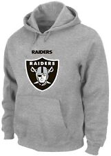 Oakland Raiders NFL Critical Victory Pullover Men's Gray Hoodie Big & Tall Sizes