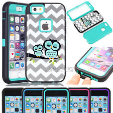 Glossy Owls Pattern Soft Hard Hybrid Shockproof Case Cover For Various Phones