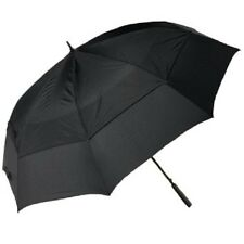 $45 TOTES BLUE LINE AUTO OPEN CLOSE BLACK UMBRELLA VENTED CANOPY RAIN STORM