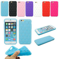 Luxury 3D Crystal Bling Diamond Star Soft Silicone Cover Case For iPhone 6 4.7""