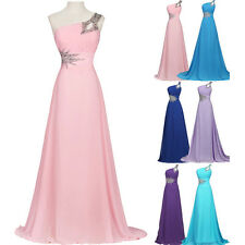 CHEAP! Vintage Long Chiffon Evening Prom Party Formal Wedding Bridesmaid Dresses
