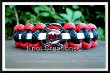 Minnesota Twins Paracord Bracelet Officially Licensed MLB Baseball Charm