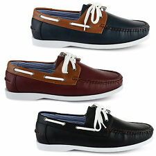 MENS LEATHER LACE UP DECK BOAT CASUAL HIGH QUALITY SHOES UK SIZE 7 8 9 10 11