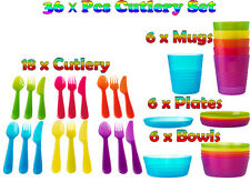 IKEA Kalas Baby Kids Plastic Cutlery, Mugs, Plates, Bowls Children's Party