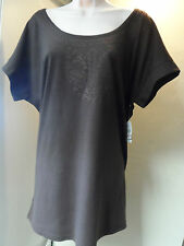 Woman's/Ladies100% Fine Cotton Plus Size Brown Smock/Tunic Top-Great Value!!