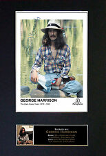 GEORGE HARRISON Beatles Quality Autograph Signed Photo Print (A4) No172