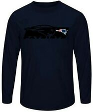 New England Patriots Men Long Sleeve Synthetic Storm Shirt Navy Big & Tall Sizes