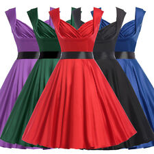 Rockabilly Vintage Swing Work Evening Dress 40s 50s Retro Emo Pin Up Plus Size