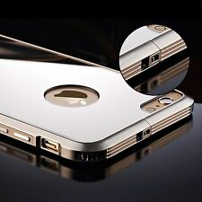 Aluminum Mirror Metal Frame Ultra Slim Gloosy Clear Back Case Cover for iPhone