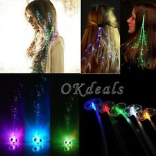 Light Fiber Optic Hair Extension For Womens Ladies HALLOWEEN Glow Toys Party Toy