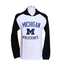 Ncaa Mens Apparel -Michigan Wolverines Hooded LS Tee shirt..new1st quality gear