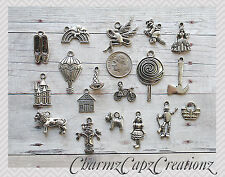 18pc Wizard of Oz Silver Charm Set Lot Collection / Dorothy Lion Scarecrow / #1