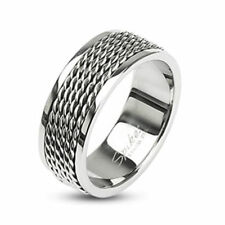 """mens ladies Ring silver """"Chain Left"""" Stainless steel NEW JEWELRY by ALLFORYOU"""