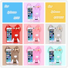 New 3D Cute Rabbit Soft Silicone Rubber Case Cover for iPhone 6 4.7""