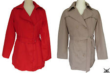 LA REDOUTE Lightweight Mac Jacket Trench Coat Red or Beige Size 10 12 14 16