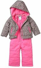 Carter's Girls Cheetah Print Snowsuit Jacket & Bib Snow Pants NWT Sz 12 or 18 Mo