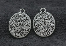 10/40/200pcs Tibetan Silver exquisite Flower Jewelry Charms Pendant DIY 21x15mm