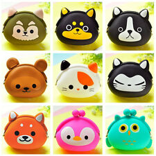 Cute Silicone Animal Change Coin Wallet Purse Women Girl Kid's Gift Pouch Mini