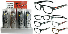 Plastic Color Reading Glasses with Double Color in Hard Plastic Case